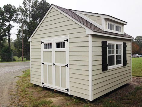 12x12 Craftsman Steep-Pitch With Transom Double Doors and 4ft Roof Dormer