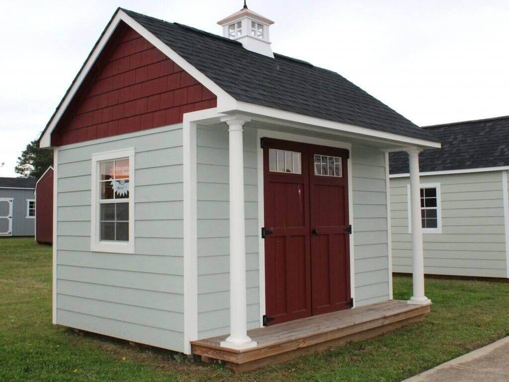 10x12 Craftsman Steep-Pitch featuring a 2ft front porch and cupola