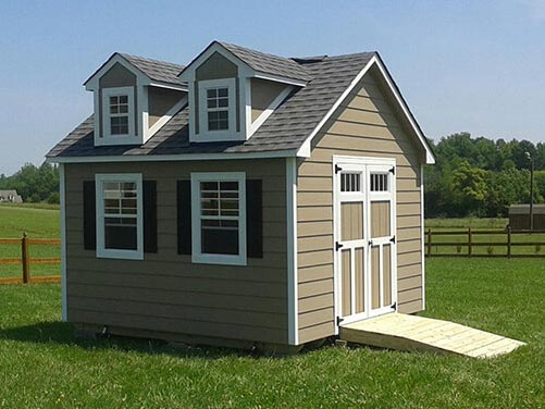 12x12 Craftsman Steep-Pitch With Lap Siding and Dollhouse Dormers