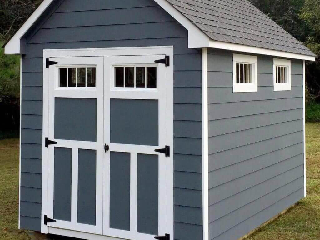 8x12 Craftsman Steep-Pitch With James Hardie Lap Siding and Gable End Overhangs