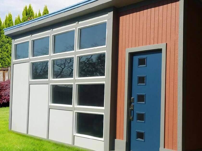 12x18 Modern Series ShedFeaturing Custom Window and Door Design