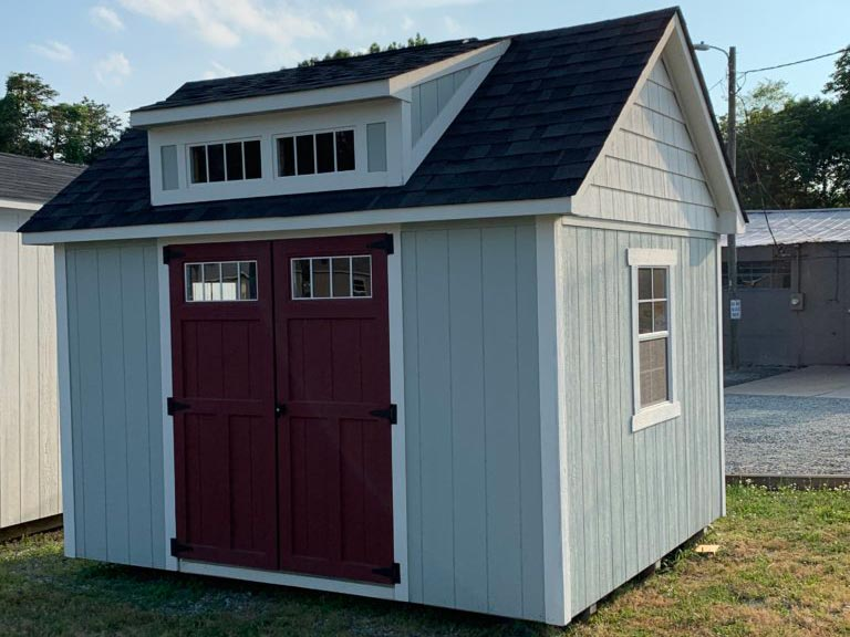 10X12 craftsman steep-pitch shed