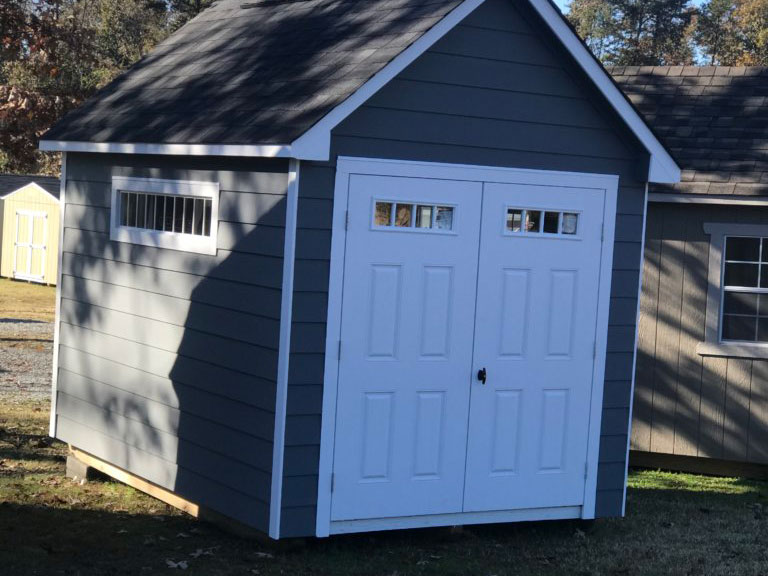8X12 craftsman steep-pitch shed dunn