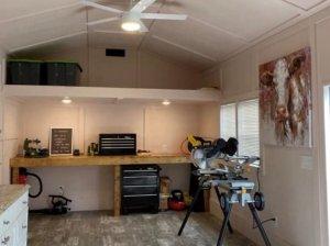 man cave shed workshop
