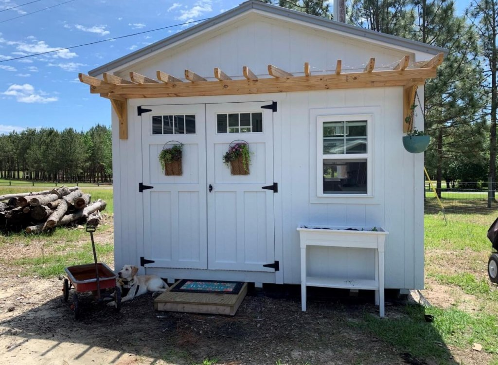 she shed exterior